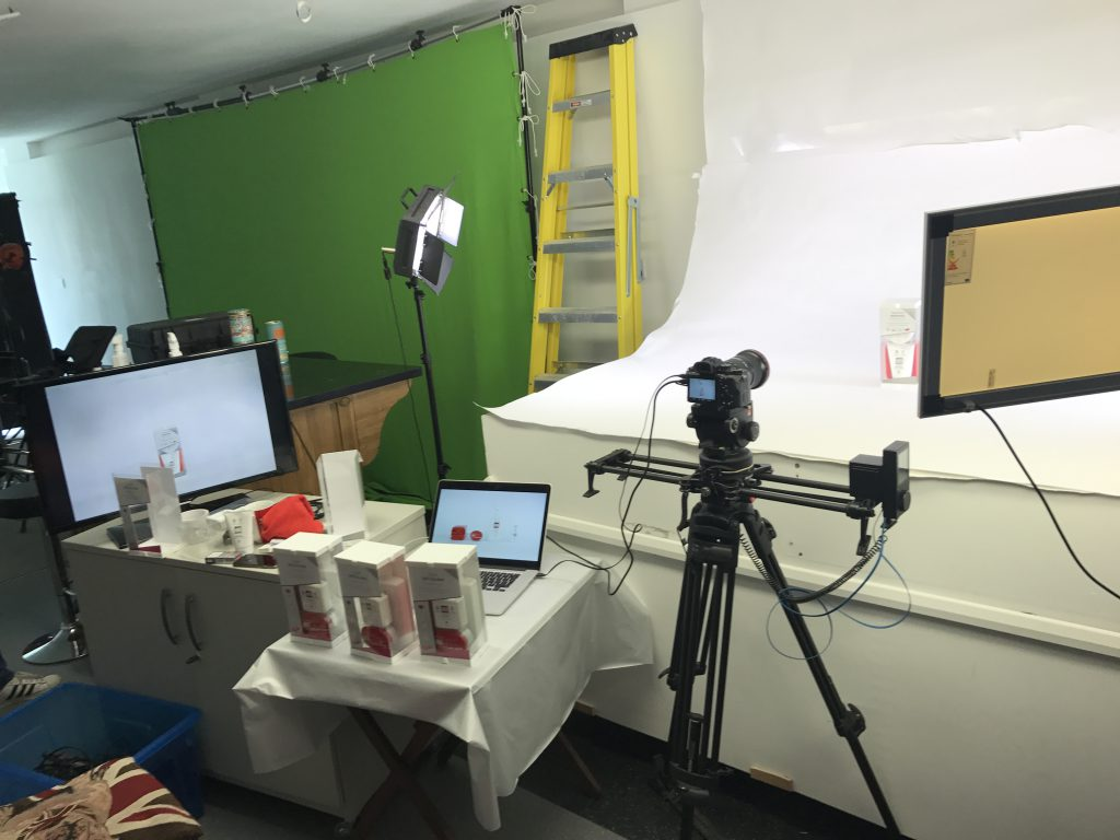 Stop motion filming.
